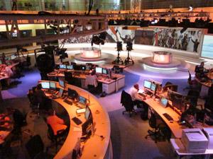 The Al Jazeera newsroom in Doha, Qatar. (Photo: Jon Vidar)