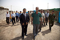 My entourage consisted of the Mayor of Grdasin, a fixer, 4 armed guards, and about 20 refugees