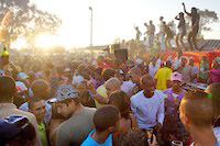 Sunday braii in the Langa township near Cape Town, South Africa