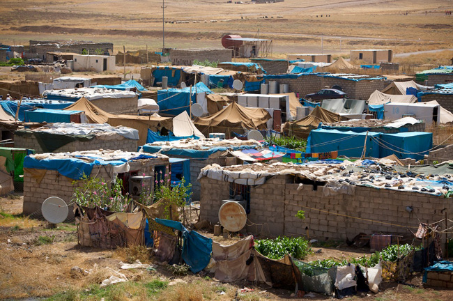 A view of the Grdasin IDP Camp in Iraq