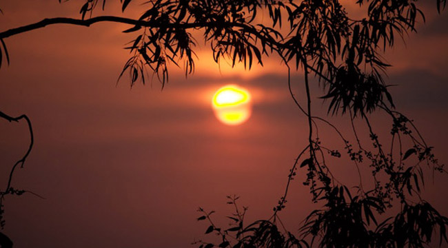 The sunrise in Kigali, Rwanda