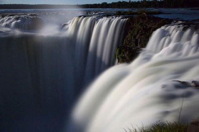 A midnight view of the Iguassu Falls