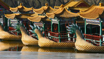 Ornamental boats in Beijing, China