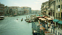 A view of the canals in Venice, Italy