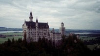 A view of the Neuchwanstein Castle in Bavaria, Germany