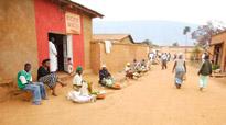 A street scene in Kigali, Rwanda