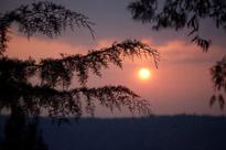 Sunrise outside of Kigali, Rwanda