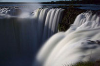 A midnight view of the Iguassu Falls